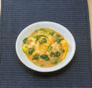 認知症予防をめざす豆腐レシピ②【豆腐と卵のタラコあんかけ】