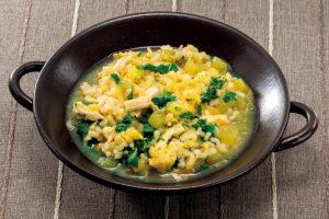 溜まったストレス発散栄養「GABA(ギャバ)」たっぷり!発芽玄米とフキの雑炊