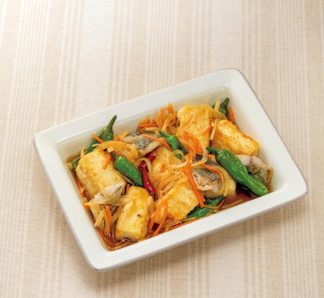 認知症予防をめざす豆腐レシピ①【豆腐とアジの南蛮漬け】