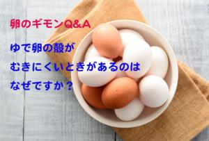 ゆで卵の殻が上手にむけない理由は?上手なむき方も教えて【卵のギモンQ&A⑮】