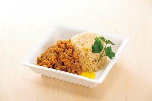 亜麻仁油&発芽玄米の健康キーマカレー(物忘れを気にする人に)