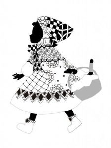 【ゼンタングル初心者の描き方講座】「赤ずきんの少女」を描いて心頭滅却(シリーズ第2回)